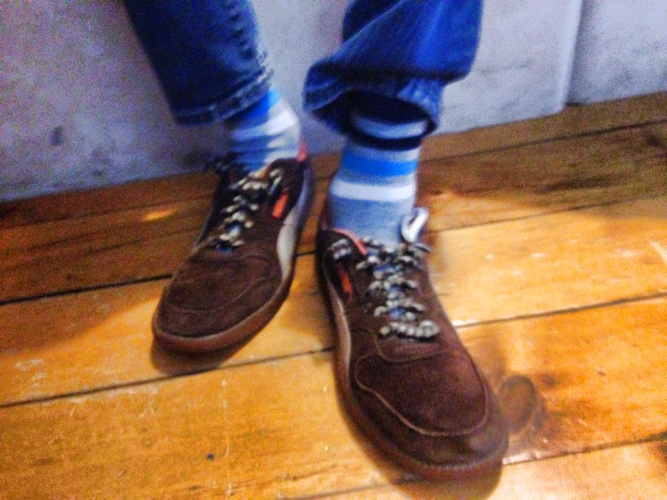 Sometimes it's as simple as socks and shoes
